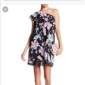 Eliza j - ruffle one shoulder dress